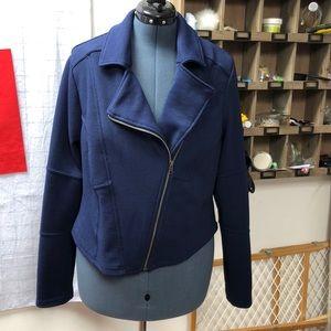 Torrid size 2 motto style asymmetrical zip jacket